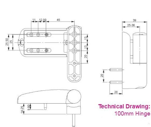 Mila Ideal Flag Hinge 85mm And 100mm